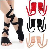Women's Anti-slip Toeless Low Ankle Socks Massage Gym for Ballet Yoga Pilates R