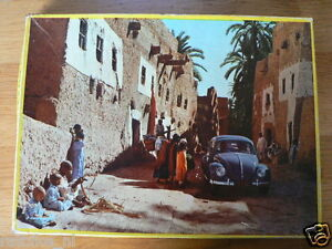 PUZZLE AUTO CAR VOLKSWAGEN VW KEVER,BEETLE,KAFER, JIG SAW PUZZLE COMPLETE