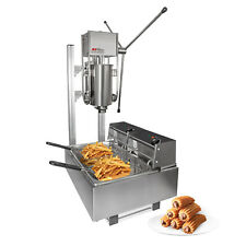 Churros Machine | Manual Churro Maker with Working Stand | Deep Fryer | 5L
