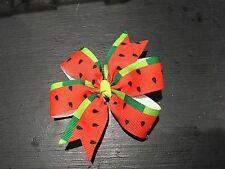 3inches Watermelon Pin Wheel Hair bow Summer Alligator Clip