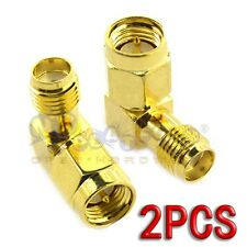2Pcs SMA Male To SMA Female RF Connector Adapter Plug Jack 90 Degree Right Angle