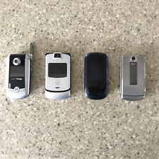 Motorola Razor V3C V3 (Verizon) & 3 Other Flip Cell Phones