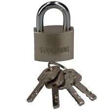 40mm Security Padlock Shed Gate Lock 4 Keys 20mm Shank Brass Core Security