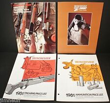 1981 Winchester Sporting Arms Ammo, 84 Classic Doubles Catalogs with Price Lists