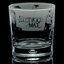 More details for fleetwood mac - engraved whisky tumbler glass | gift - present