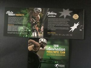 2016 Australia Olympic Paralympic Team UNC $2 Coloured Coin Pack