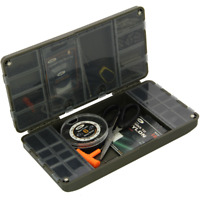 FISHING TACKLE BOX TERMINAL TACKLE SYSTEM NGT XPR CARP BOX SWIVELS HOOKS