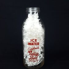 Valley Bell Dairy Ice Water Bottle Charleston WV One Quart Vintage Red Paint