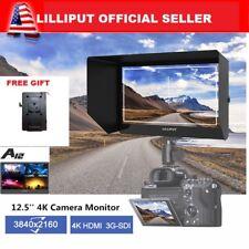 "LILLIPUT A12 12.5"" 4K Camera Top Monitor SDI HDMI Displayport Free V mount plate"
