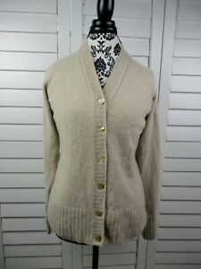Saks Fifth Ave Button Front Cashmere Cardigan Womens Small Brown Casual Ladies