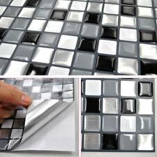 3D Tile Brick Mosaic Wallpaper Sticker Self Adhesive Kitchen Bathroom Decor 25cm