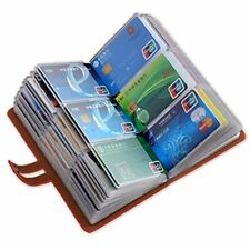 Leather Business Card Organizer Rfid Blocking Credit Holder Professional And