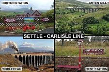 SOUVENIR FRIDGE MAGNET of THE SETTLE CARLISLE LINE TRAIN ENGLAND