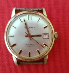 Waltham 17 Jewels 1970s Incabloc Men's Hand-winding Watch With Date