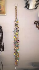 """Deluxe 56"""" Macrame Decorative Dics & Beads Chime All Hand Made Glazed Ceramics"""