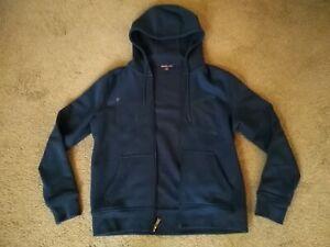 MK Michael Kors Hoodie Full Zip Up Sweater Dark Navy Blue Men's Size M Medium!