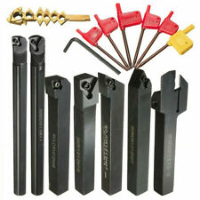 7pcs 12mm Shank Lathe Boring Bar Turning Tool Holder Set 7 Carbide Inserts Us