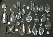 New listing Lot of 20 Vintage Crystal Chandelier Prisms different Shapes Rare Replacement