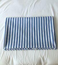 VINTAGE 1976 MARIMEKKO DAN RIVER BLUE WHITE STRIPED TWIN FLAT SHEET RARE