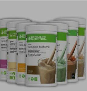 Herbalife Shake Formula 1 Neu 9 Geschmacksrichtungen OVP 550g Pro Dose