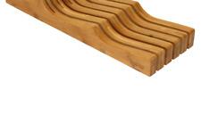 Oceanstar In- Drawer Bamboo Knife Organizer, 17 L x 6.12 W x 2.25 H inches, N.