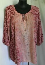 "AUTOGRAPH PAISLEY PRINT ""ARABIAN SPICE"" 3/4 SLEEVE RAGLAN TOP SZ 20-NEW JUST IN"