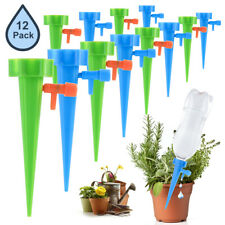 More details for 12x garden plant self watering spike irrigation watering with slow release valve