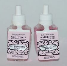 LOT OF 2 BATH BODY WORKS CHAMPAGNE TOAST WALLFLOWER FRAGRANCE REFILL BULB PLUG