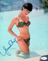 Yvonne Craig Signed Autographed 8X10 Photo Floral Bikini Sexy in Pool JSA