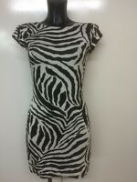 WOMENS LADIES CAP SLEEVES PRINT TUNIC LONG TOP BODYCON MINI DRESS PLUS SIZE 8-22