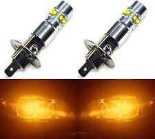 LED 50W H1 Orange Amber Two Bulbs Fog Light Replacement Plug Play Lamp OE