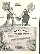 Publicité Pont l'Evêque et Camembert VIR La Banque Générale ILLUSTRATION 1911