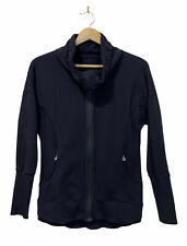 Lululemon Women's Black Jacket Cowl Neck Zip Up Long Sleeve Top EUC