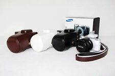PU Leather Camera Case Bag Cover For Samsung NX300 NX 300 NX-300 With Strap