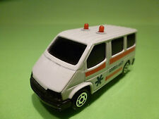 MAJORETTE 1:60? SONIC FLASHERS FORD VAN - AMBULANCE - GOOD CONDITION