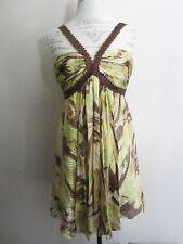 BCBG Max Azria Silk Beaded Sparkle Strappy Dress 6 EUC