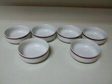 Langenthal Suisse Red White Gold Bowls Set of 6 Soup Dessert Salad