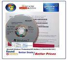 New Sealed Microsoft Windows 7 Pro Professional 64 Bit DVD | COA License Key