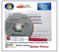 New Sealed Microsoft Windows 7 Pro Professional 64 Bit DVD | COA License Key