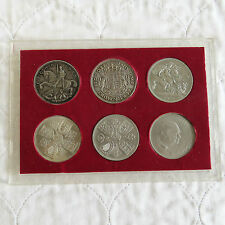 GEORGE VI - QEII 1935 - 1953 6 x CROWN COLLECTION - 2 x SILVER