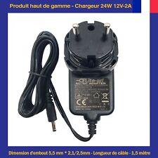Chargeur d'Alimentation 24W 12V 2A Pour Bande de LED Camera DVR NVR Cisco CCTV