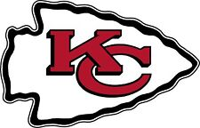 "Kansas City Chiefs NFL Football wall decor sticker, Large vinyl decal, 12.5""x 8"""
