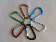 12 MINI D SHAPE CARABINER/CAMPING SPRING CLIP/HOOK/KEYCHAIN/US Seller Generic