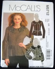 McCalls Pattern #M5712 Misses Lined Jacket Semi-Fitted Variation Size(6-8-10-12)