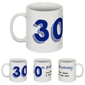 30th Birthday Personalised Mug 30 Year Mug Cup Celebration Gift Mug Cup -ilb000