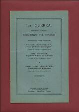 Libro Guerra Previsioni Rilievi Pronunziati da Churchill Kitchener Lloyd George