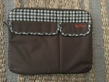 "Paul Frank Laptop Case/Sleeve for 13"" MacBookPro Laptops Plaid Brown 2 Pocket"