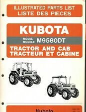Kubota M9580dt Tractor And Cab Parts Manual