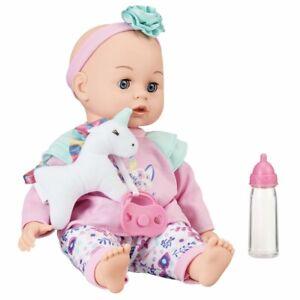 My Sweet Love Sweet Baby 4-Pc Doll Set ~ Doll, bottle, Plush Unicorn & pacifier