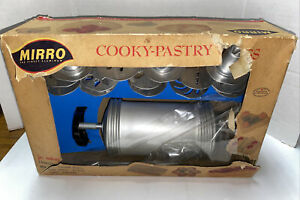 Vintage Mirro Cooky Pastry Press and Cake Decorating Set 358-AM With Box Kit